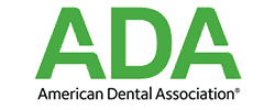 The official American Dental Association Logo to show that this dentist in Seattle in a member of this organization