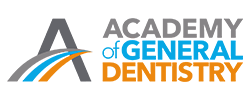 Official logo of the Academy of General Dentistry to show that this dentist in Seattle in a member of this organization